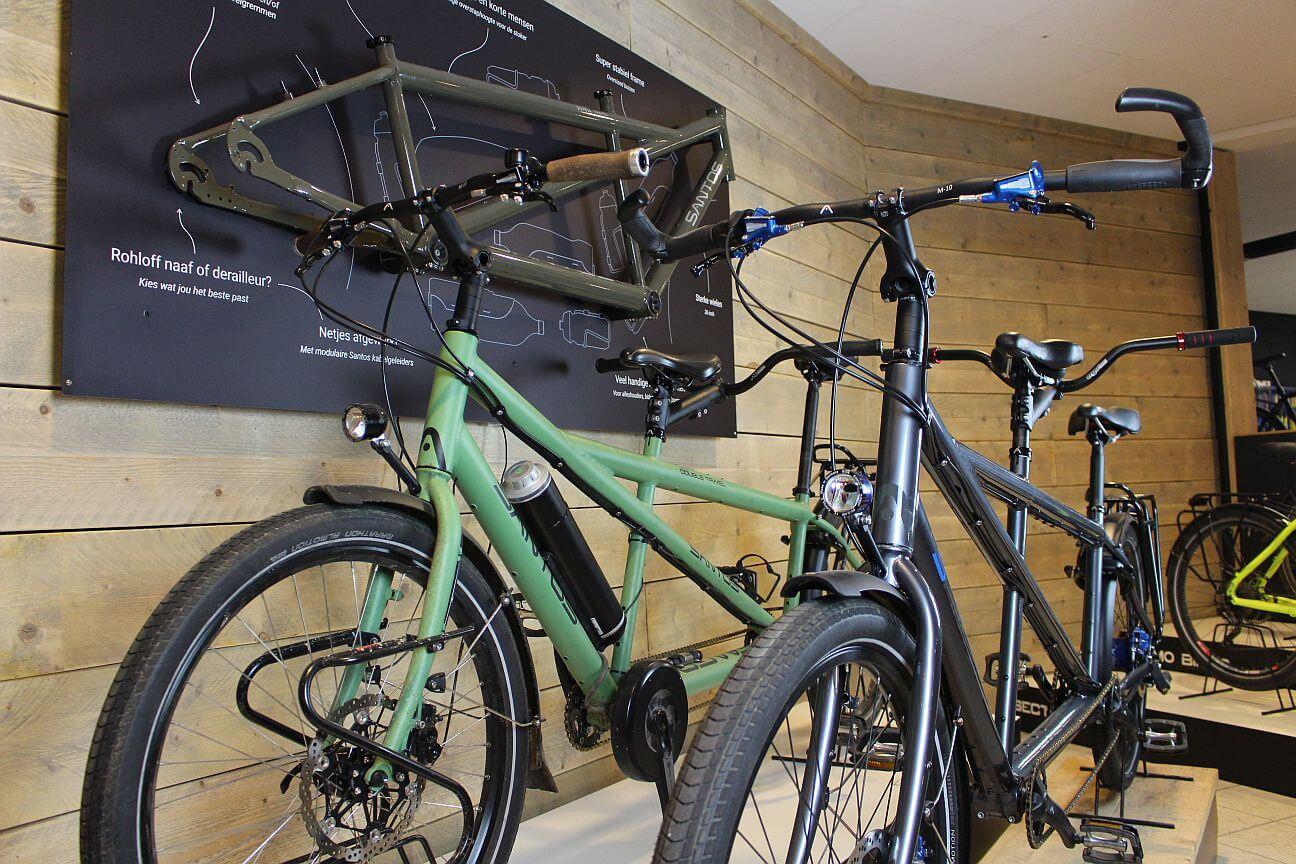 Elektrische tandem, e-bike tandem santos